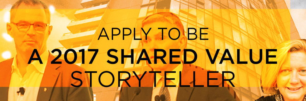 Applications for Shared Value Storyteller Sessions now open